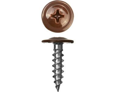 Саморез 4,2х19 прессшайба сверло /8017/шоколадно-коричневый