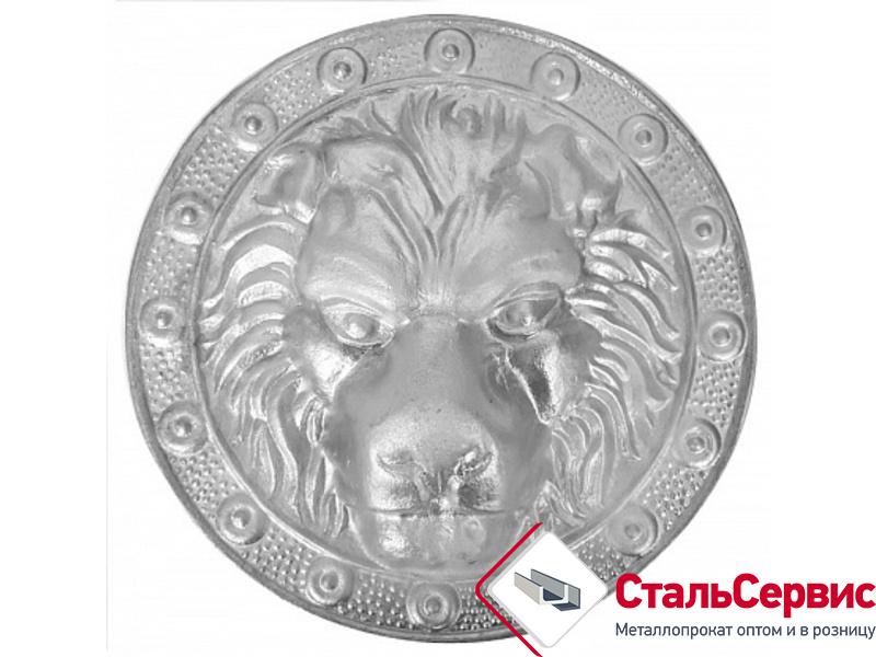 Голова льва (малая) SK20.01.1 180х180 алюминий