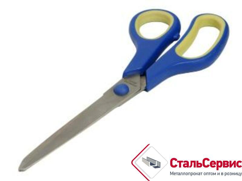Ножницы 225 мм, бытовые нержав, прорезин.ручки