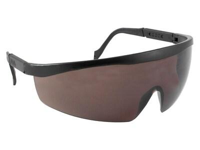 Очки защитные, с дужками затемненные, пластик