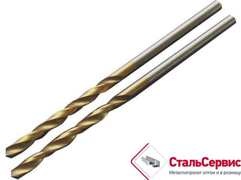 Сверло по металлу d-3,0, титановое покрытие
