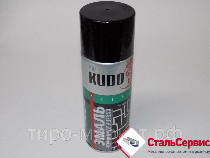Аэрозоль KUDO №1002 черная глянцевая 520мл