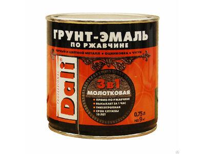 Эмаль молотковая DALI коричневая0,75л.
