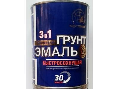 Эмаль по ржавчине Радуга б/сохн.30 мин.серый 0,9 кг.