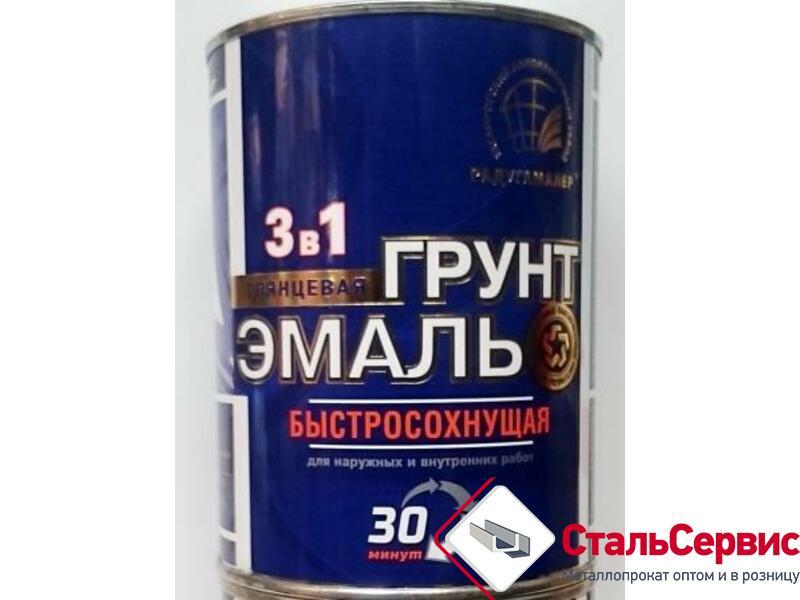 Эмаль по ржавчине Радуга б/сохн.30 мин.черная0,9 кг.