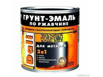 Эмаль по ржавчинеDALI коричневая RAL8017,0,75л.