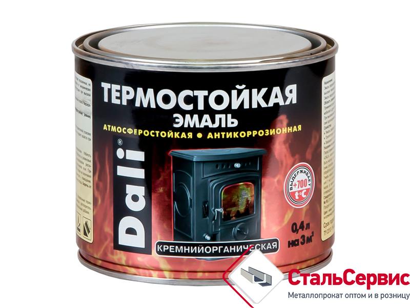 Эмаль термостойкая Dali черный 0,4л.