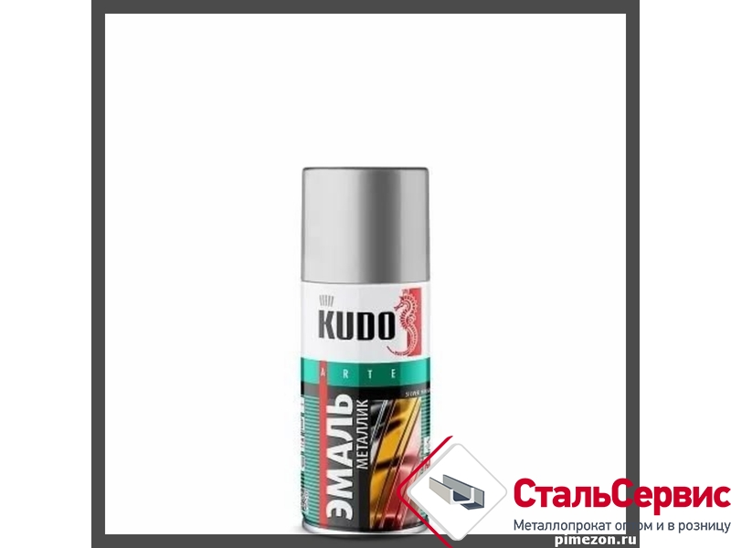 Аэрозоль KUDO №1026 металлик серебро 210мл