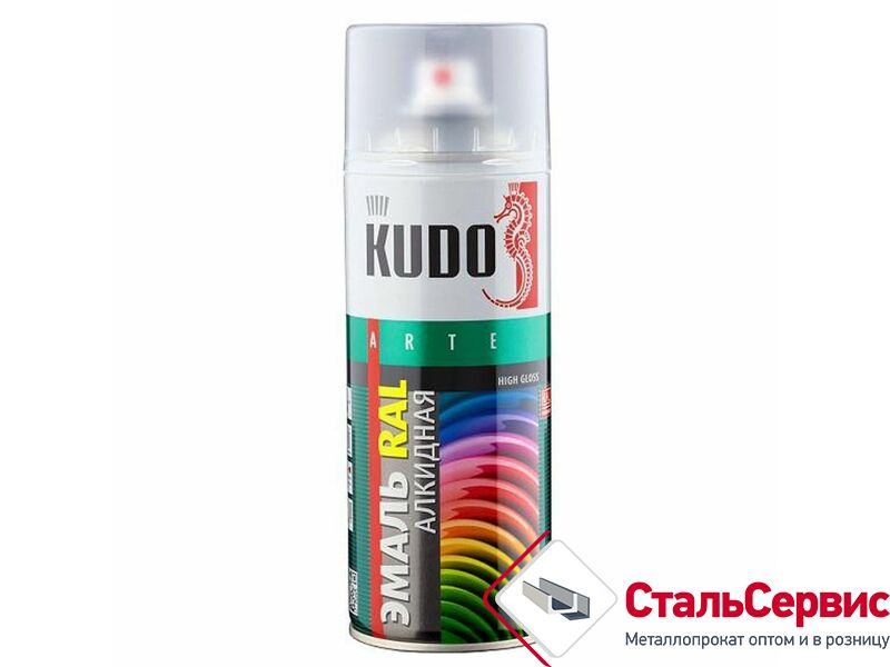 Аэрозоль KUDO №1102 черная матовая 520мл