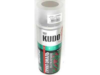 Аэрозоль KUDO грунт-эмаль по ржавчине шоколадная RAL8017 520мл