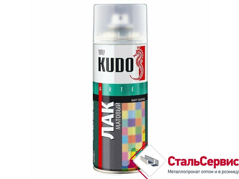 Аэрозоль KUDO лак универсаньный акриловый №9004 мат.520мл.