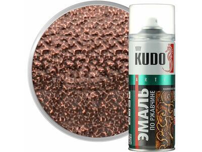 Аэрозоль KUDO молотковая серебристо-коричневая №3008 520мл.
