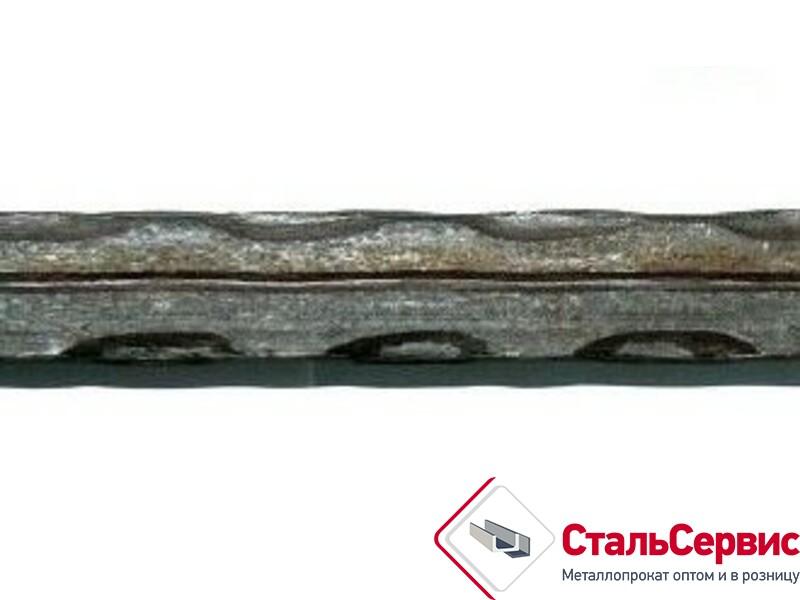Квадрат чеканенный по ребру с рассечкой 12х12